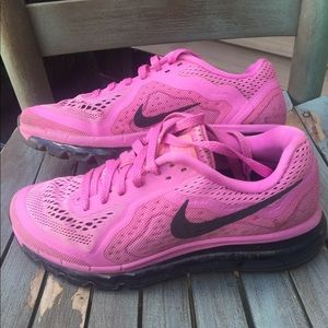 Women's Pink Nike Air Max Running Sneakers 7.5M